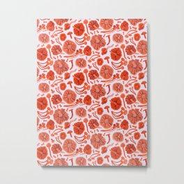 Belle Chanterelle, Orange Pop Metal Print