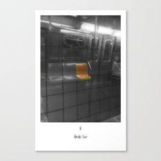 Train Thinks @ NYC Canvas Print