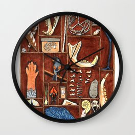 Curious Cabinet Wall Clock