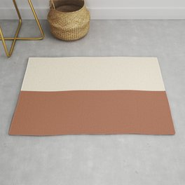 Earthy Horizon Inspired by Sherwin Williams Cavern Clay Sw 7701 and Creamy SW 7012 Rug