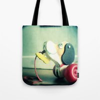 snoopy Tote Bags featuring Snoopy dog by Gail Griggs