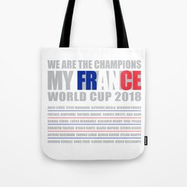 WORLD CUP 2018 FRANCE champion Tote Bag
