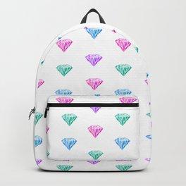 multicolored watercolored diamonds Backpack