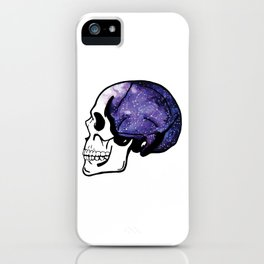 Galaxy Watercolor Skull iPhone Case