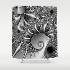 Silver Thorn Shower Curtain