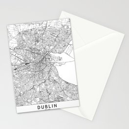 Dublin White Map Stationery Cards