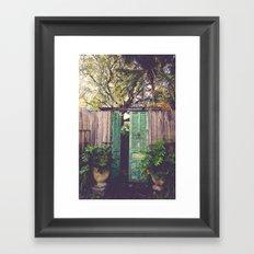 Saint Augustine Garden Framed Art Print
