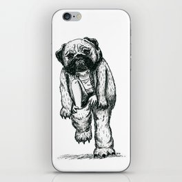 Pug costume iPhone Skin