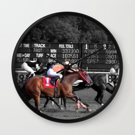 Race horses Wall Clock