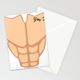 Six Pack I'm 25th Birthday Funny Men Stationery Cards