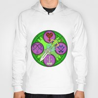 kingdom hearts Hoodies featuring Kingdom Hearts stained glass illustration  by Paul Giovinco