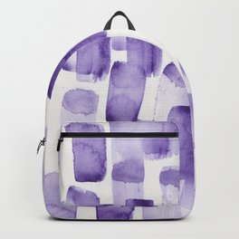 Purple Watercolour Patterns | 190129 Abstract Art Watercolour Backpack