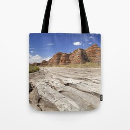 Dry riverbed in Purnululu National Park, Western Australia Tote Bag