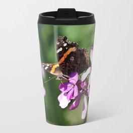 Butterfly and Phlox Travel Mug