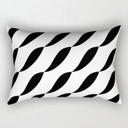 Wave design pattern. Stylish white and black design. Rectangular Pillow