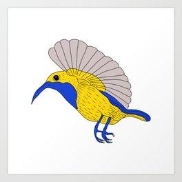 Olive backed sunbird Art Print