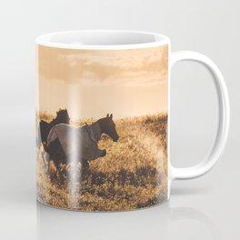 wild horses at dusk Coffee Mug