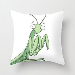 Loveportunity Praying Mantis Throw Pillow