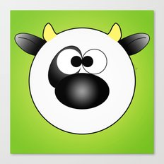 Moo Moo Cow Ball Canvas Print