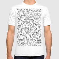 Bunny Pattern White MEDIUM Mens Fitted Tee