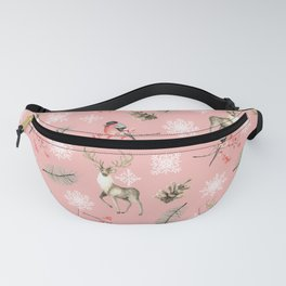 Xmas Pattern Pink #socieyt6 #buyart Fanny Pack
