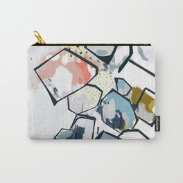 Ava Abstract Print Carry-All Pouch