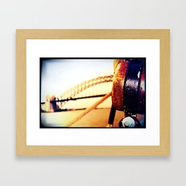 BRIDGE BY SEA Framed Art Print