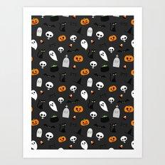 Halloween Pattern Art Print