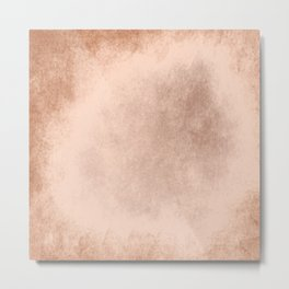 Brown grunge texture Metal Print