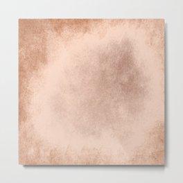 Brown grunge texture Metal Print