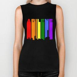 Abilene Texas Gay Pride Rainbow Skyline Biker Tank
