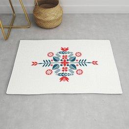 Scandinavian Folk Pattern Rug