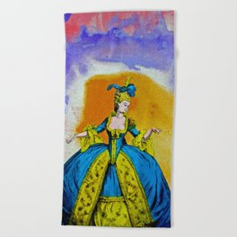 Marie Antoinette by Michael Moffa Beach Towel