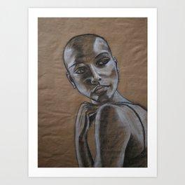 Pensive Woman Art Print