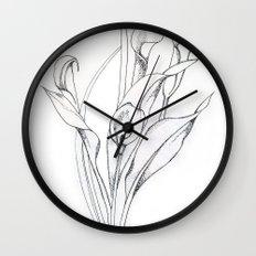 Calla Lily Point Wall Clock