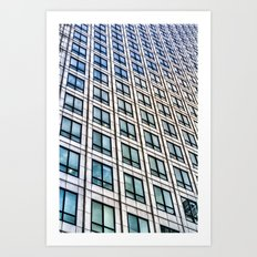 Canary Wharf Tower  London Abstract Art Print