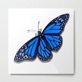 Blue Monarch Butterfly Metal Print