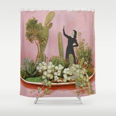 The Wonders of Cactus Island Shower Curtain
