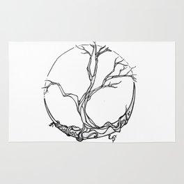 Moon tree Rug
