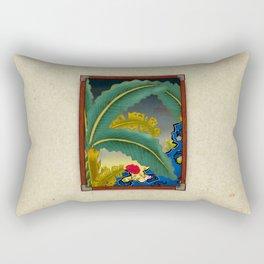 Minhwa: Plantain Garden at Night Rectangular Pillow