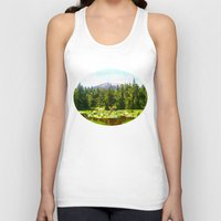 forrest Tank Tops featuring Forest Green by IvaW