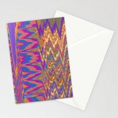 Chevron Glitch Stationery Cards