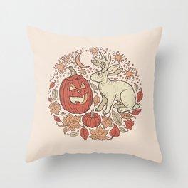 Halloween Friends | Autumn Palette Throw Pillow