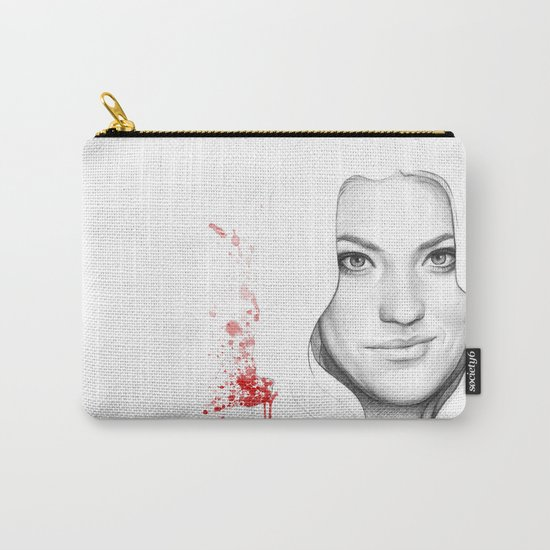 Debra and Blood Splatters Carry-All Pouch