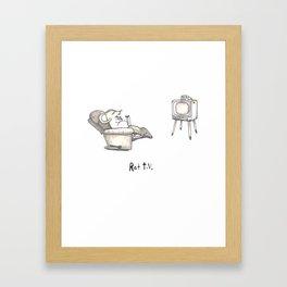 Rat TV Framed Art Print