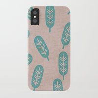 feather iPhone & iPod Cases featuring Feather by sinonelineman