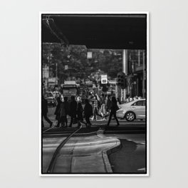 If you go down this way...(Flinders St, 2012) 2/2 Canvas Print