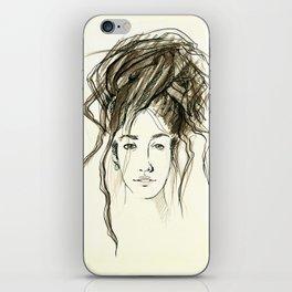beauty dreadlocks face iPhone Skin