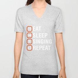 Funny Singing Anniversary Present Unisex V-Neck