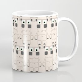 Super cute cartoon white pig - bring home the bacon with everything for the pig enthusiasts! Coffee Mug